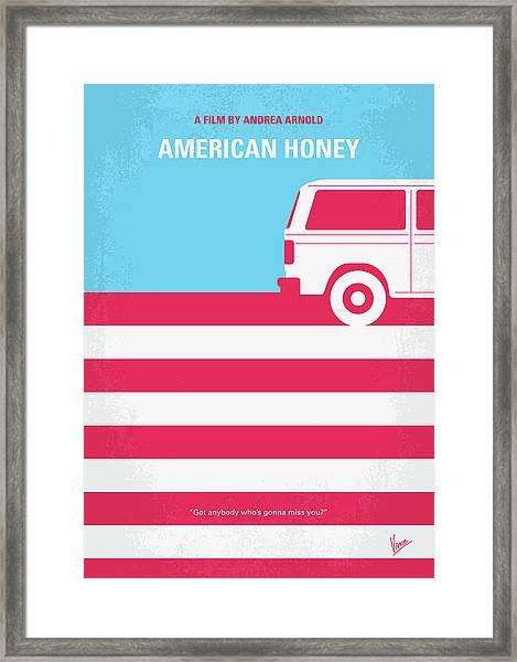 No786 My American Honey Minimal Movie Poster Framed Print