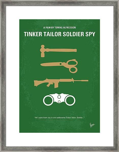 No787 My Tinker Tailor Soldier Spy Minimal Movie Poster Framed Print