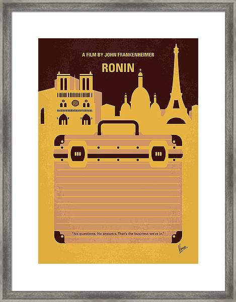 No801 My Ronin Minimal Movie Poster Framed Print