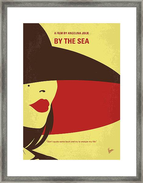 No805 My By The Sea Minimal Movie Poster Framed Print