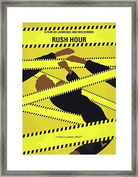 No816 My Rush Hour Minimal Movie Poster Framed Print
