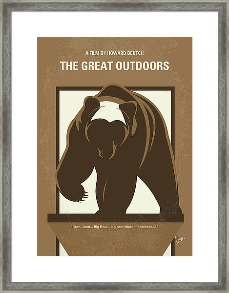 No824 My The Great Outdoors Minimal Movie Poster Framed Print