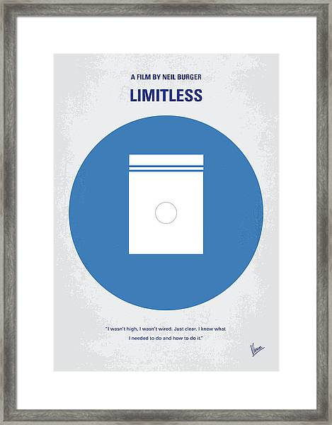 No828 My Limitless Minimal Movie Poster Framed Print