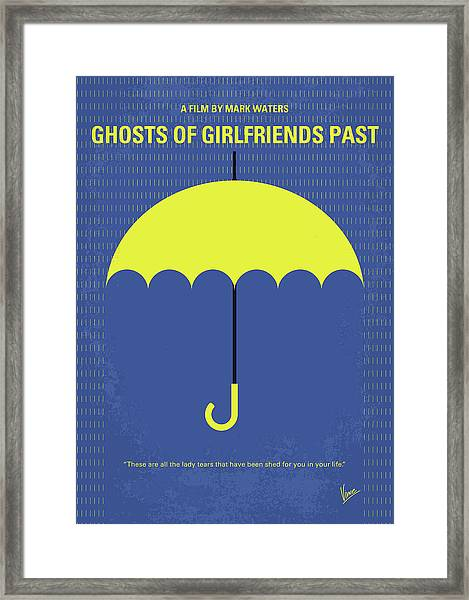 No839 My Ghosts Of Girlfriends Past Minimal Movie Poster Framed Print