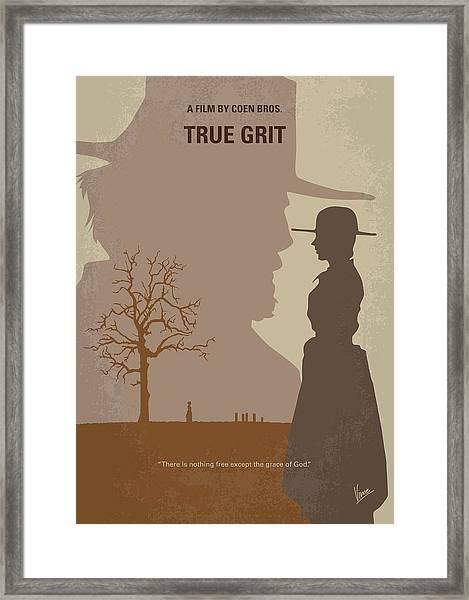 No860 My True Grit Minimal Movie Poster Framed Print