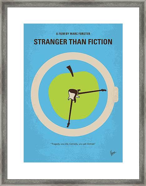 No868 My Stranger Than Fiction Minimal Movie Poster Framed Print
