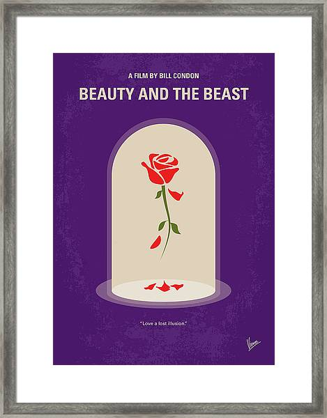 No878 My Beauty And The Beast Minimal Movie Poster Framed Print
