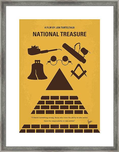 No887 My National Treasure Minimal Movie Poster Framed Print