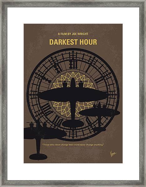 No901 My Darkest Hour Minimal Movie Poster Framed Print