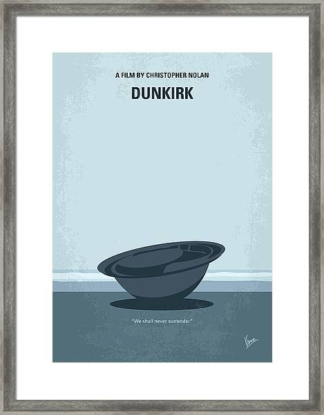 No905 My Dunkirk Minimal Movie Poster Framed Print