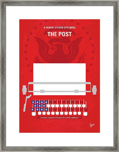No907 My The Post Minimal Movie Poster Framed Print
