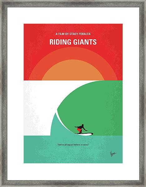No915 My Riding Giants Minimal Movie Poster Framed Print