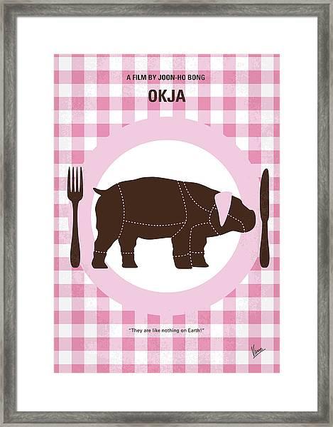 No921 My Okja Minimal Movie Poster Framed Print