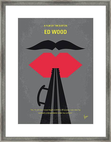 No924 My Ed Wood Minimal Movie Poster Framed Print