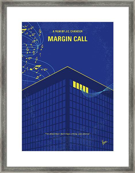 No950 My Margin Call Minimal Movie Poster Framed Print