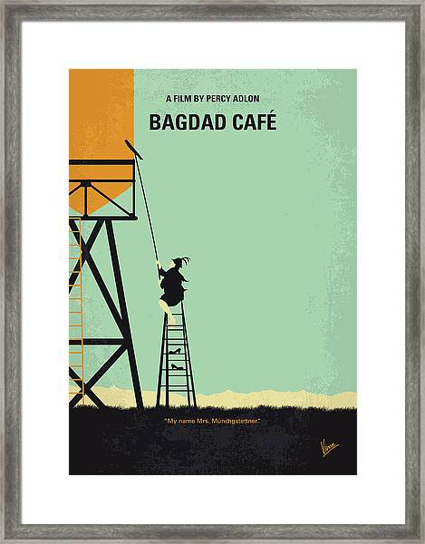No964 My Bagdad Cafe Minimal Movie Poster Framed Print