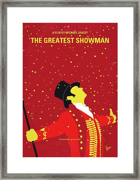 No965 My The Greatest Showman Minimal Movie Poster Framed Print