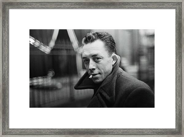 Nobel Prize Winning Writer Albert Camus Paris 1944 - 2015           Framed Print