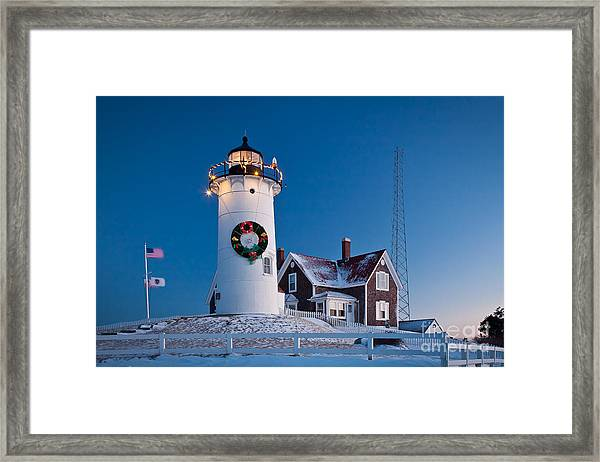 Framed Print featuring the photograph Nobska Light by Susan Cole Kelly