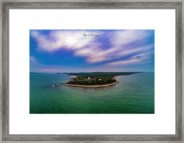 Nobska Lighthouse Panorama Framed Print