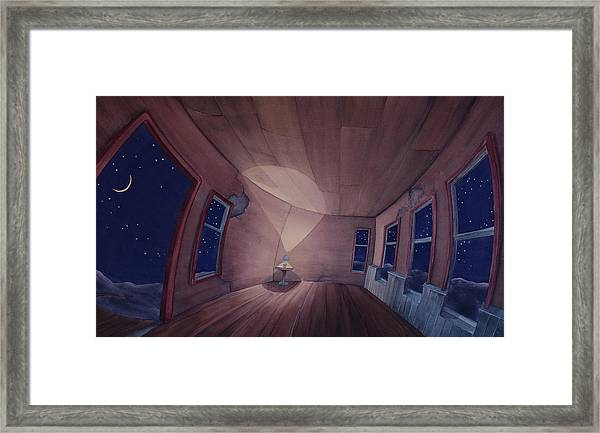 Framed Print featuring the painting Nocturnal Interior by Scott Kirby