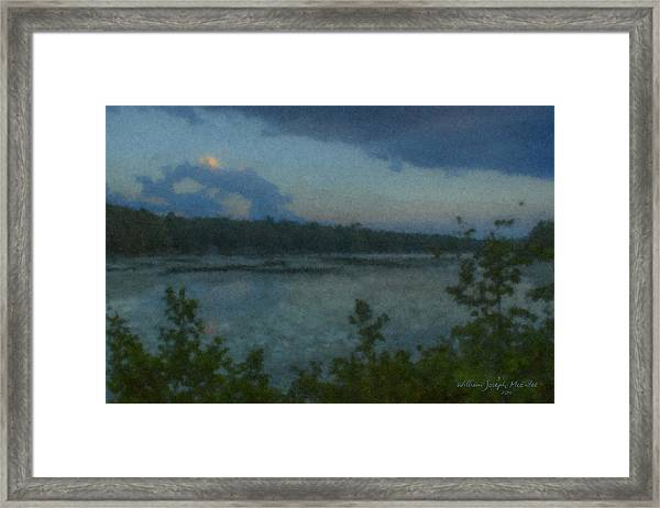 Nocturne At Ames Long Pond Framed Print