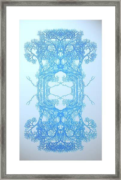 Nonphysical Me Tree 17 Hybrid 3 Framed Print