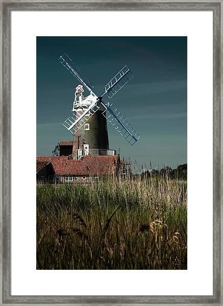 Norfolk Windmill Framed Print