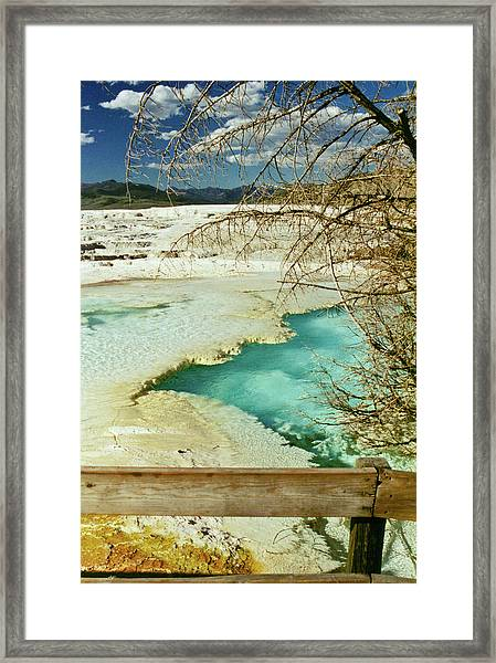 Norris Hot Spring Framed Print
