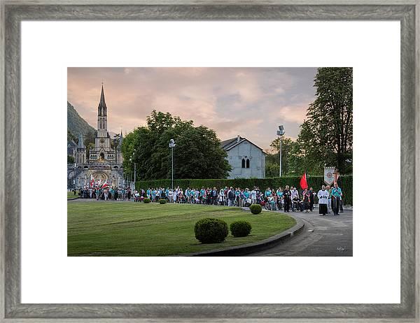 North American Volunteers Procession Framed Print
