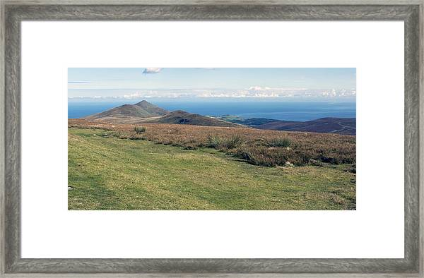North Barrule And Maughold Head Framed Print by Steve Watson