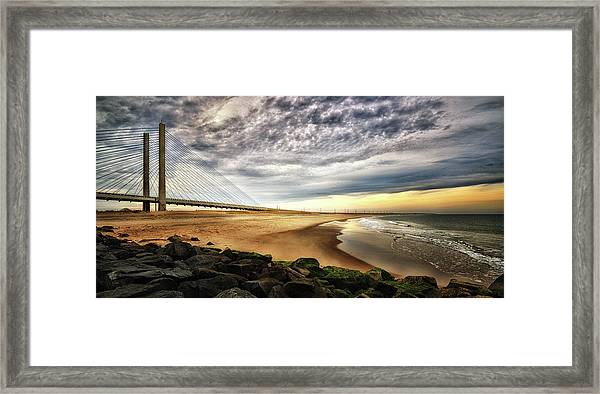 North Beach At Indian River Inlet Framed Print