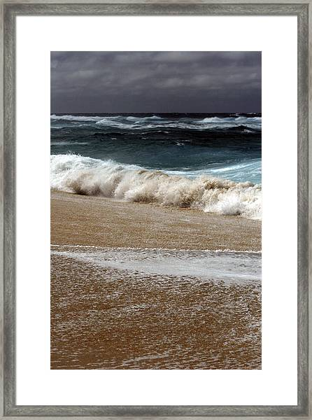 North Beach, Oahu V Framed Print