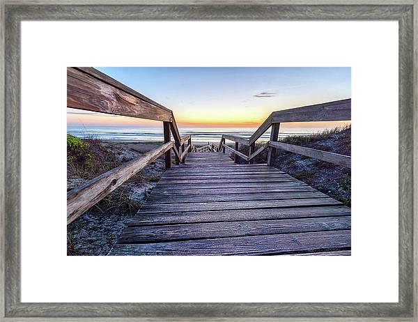 North Beach Sunrise Framed Print