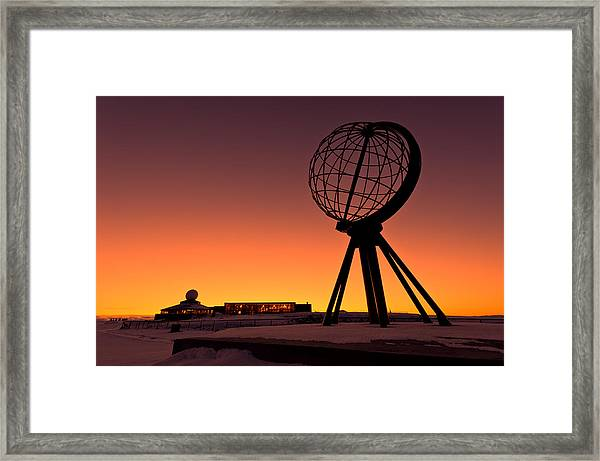 North Cape Norway At The Northernmost Point Of Europe Framed Print