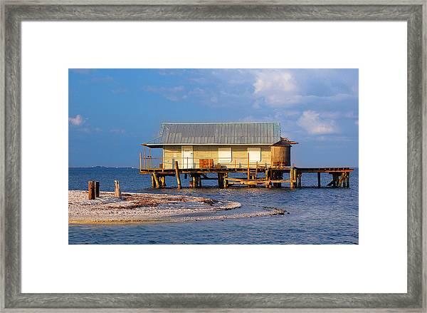 North Captiva Island Last Stilt House Standing Framed Print