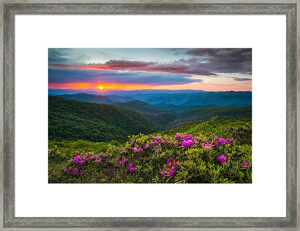 North Carolina Blue Ridge Parkway Landscape Craggy Gardens Nc Framed Print