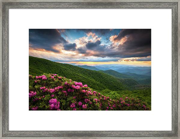 North Carolina Blue Ridge Parkway Scenic Landscape Asheville Nc Framed Print