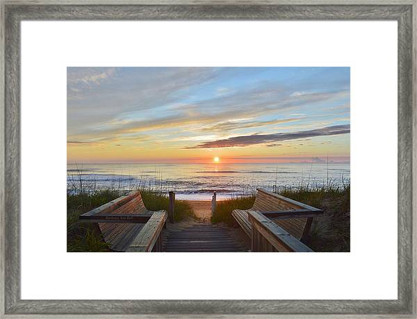 North Carolina Sunrise Framed Print