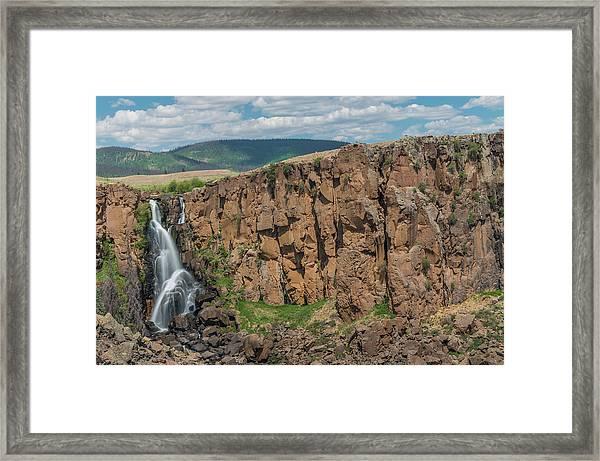 North Clear Creek Falls, Creede, Colorado 2 Framed Print