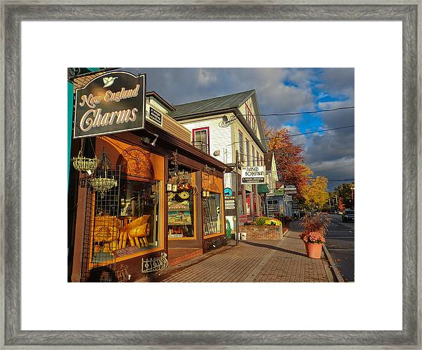 North Conway Village 3 Framed Print