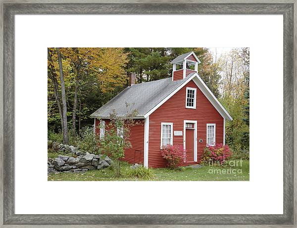 North District School House - Dorchester New Hampshire Framed Print