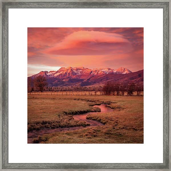 North Fields Scorcher Framed Print by Johnny Adolphson