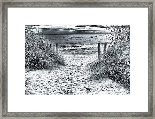 North Myrtle Beach Entry Framed Print