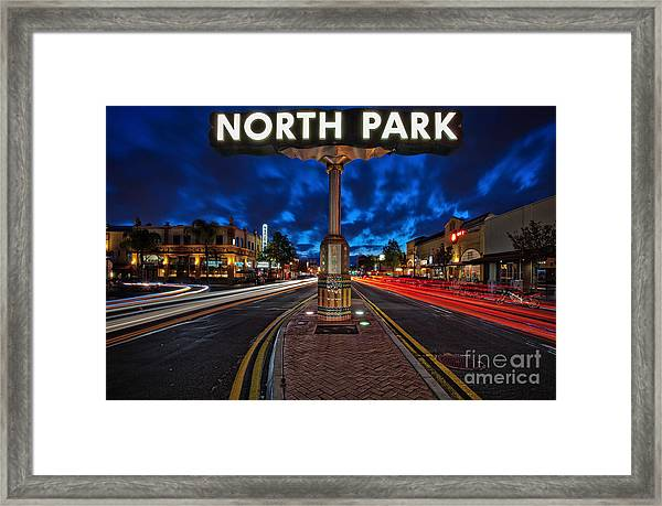 North Park Neon Sign San Diego California Framed Print