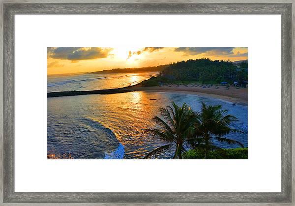North Shore Of Oahu  Framed Print