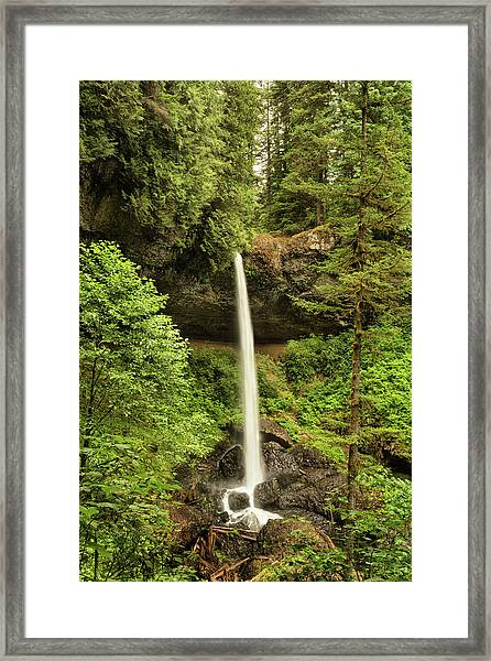North Silver Falls Framed Print