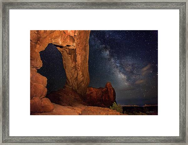 North Window And The Milky Way Framed Print