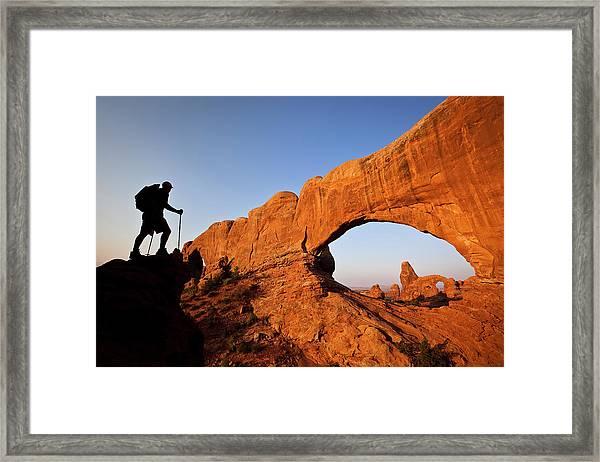 North Window Arch Framed Print