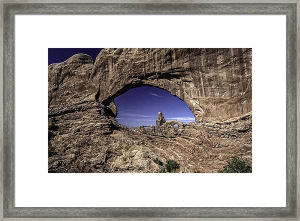 North Window, Arches Framed Print